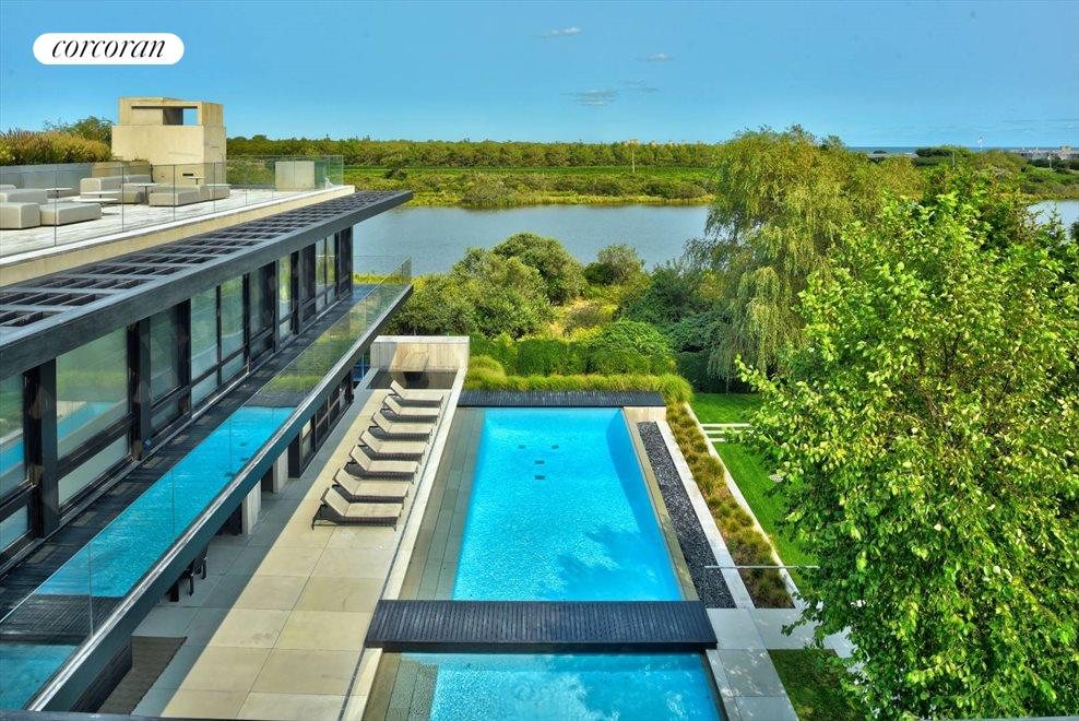 The Hamptons Real Estate | View 142 Crestview Lane | view from 2nd floor deck