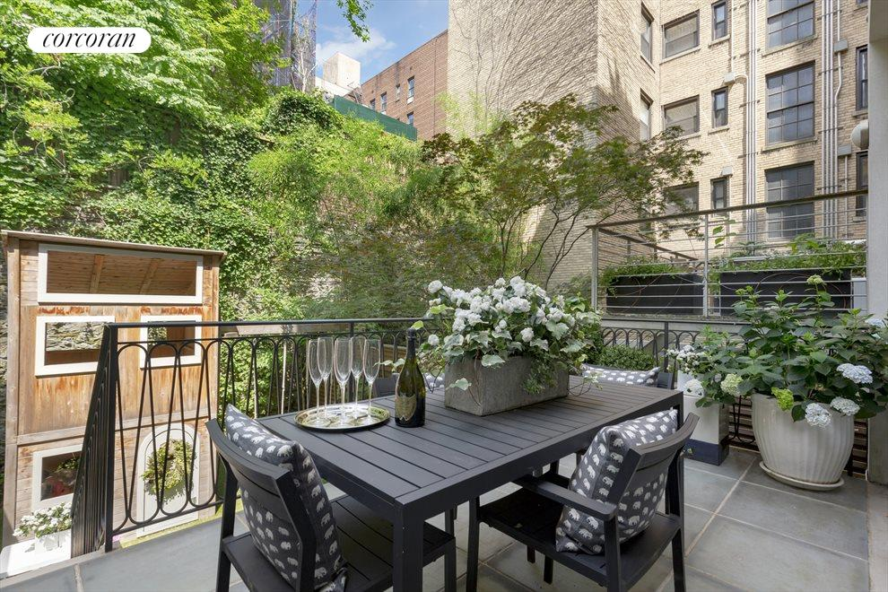New York City Real Estate | View 163 East 82nd Street | Terrace adjacent to Den