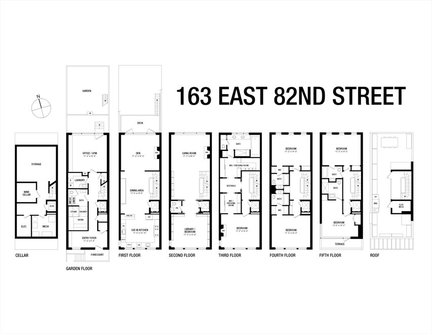 New York City Real Estate | View 163 East 82nd Street | Floorplan