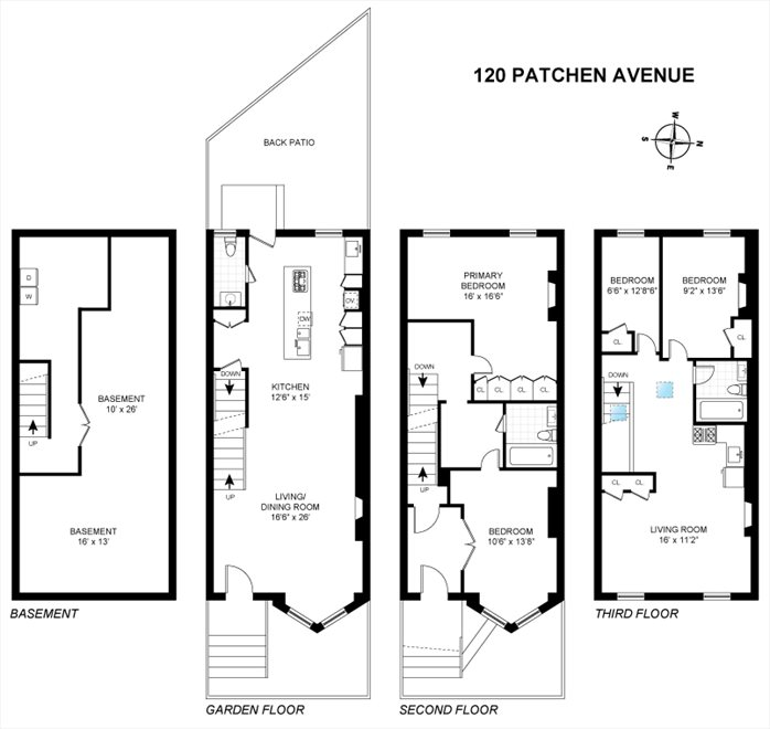 New York City Real Estate | View 120 PATCHEN AVE | Floorplan