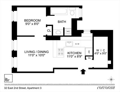 New York City Real Estate | View 32 East 2nd Street, #3 | Floorplan
