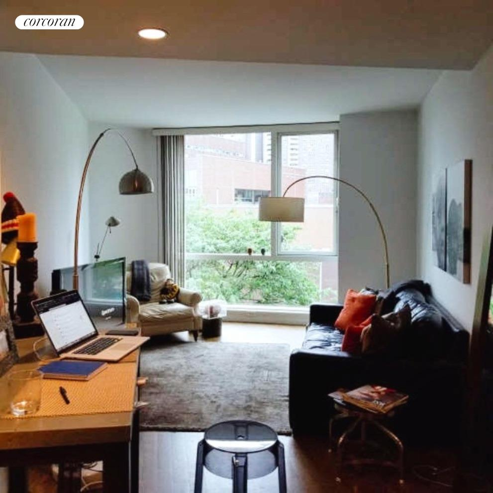 Exquisite corner one-bedroom in this phenomenal full-service Tribeca condo building is not to be missed. High ceilings and floor-to-ceiling windows sun fill this home featuring a sleek and modern kitchen with granite counter tops, marble back splash, Viking stove, SubZero refrigerator, Bosch dishwasher and plenty of transparent cabinet spaces for your kitchen needs. Walk-in closet, hardwood floors and a marbled bathroom round out this fantastic unit. BONUS- Laundry is on the same floor!200 Chambers, Tribeca's first luxury high rise development, is a full-service 24-hour doorman building with on-site resident manager, spectacular landscaped roof top terrace atop the Chambers Street wing with views of the Hudson River, Washington Market Park, and the Tribeca Skyline; 50 foot skylit indoor lap pool, state of the art 24-hour gym, kid's playroom, parking garage and resident's lounge. Close proximity to major subway lines (1, 2, 3, A, C) and conveniently located near Whole Foods, Soul Cycle, Bed Bath & Beyond and Barnes & Noble. Pet Friendly.Promotional pricing for March 1 or earlier move.