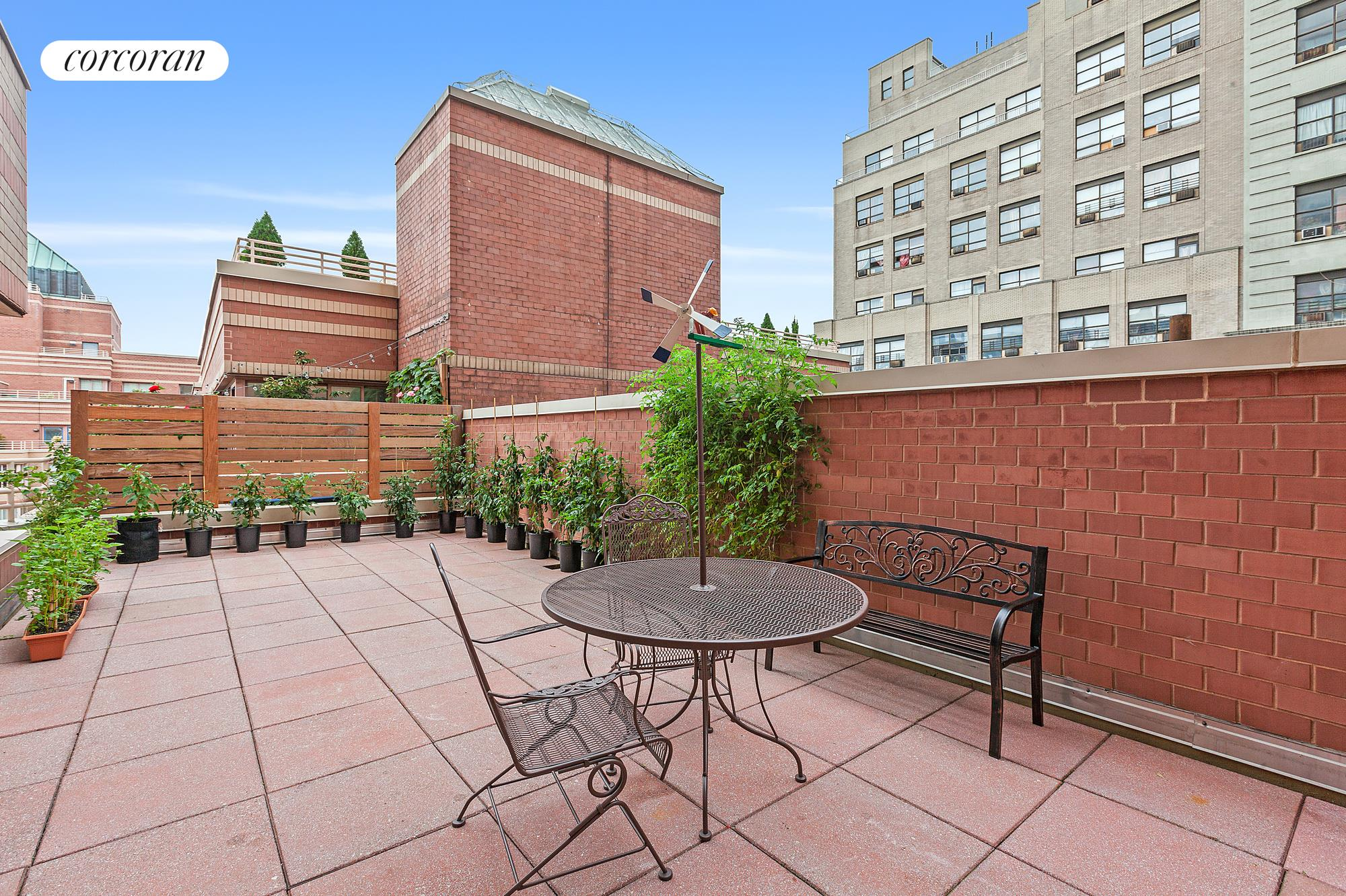 "Residence 6LL is a uniquely large corner one bedroom home with 10'+ high ceilings and with it's very own 482 square foot private terrace. The oversized living room features seven windows with West and North exposures and floor to ceiling sliding doors to access the private terrace. New floors throughout, great closet space and a spacious separate kitchen large enough to have a breakfast table. The building has a live-in Resident Manager and the amenities include 24-hour Concierge, doorman, eight laundry rooms, and a ""Resident's only"" courtyard and four roof decks with open views. Connected to the building is Elite New York Sports Club 40,000 sq. ft. newest gym with the latest technology, 25-meter saltwater pool, sauna, exercise studio and virtual reality spin room with an immersive 30-foot video wall. Monthly and annual memberships available. The Residences at Worldwide Plaza is a full-service condominium ideally located in the heart of the vibrant Manhattan's theater district and the Midtown Financial District, close to Central Park, Lincoln Center, the Hudson River Park, Rockefeller Center, St. Patrick's Cathedral, numerous restaurants, museums and points of interest. The garage on the premises is available to residents for a nominal fee. Minutes to the C, E, 1, W, N, R, B, D, F and M subway lines and cross-town buses. Capital Assessment of $231 per month from 4/1/21 to 9/1/22."