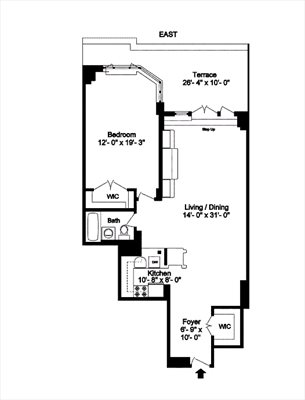 New York City Real Estate | View 30 East 62nd Street, #2H | Floorplan