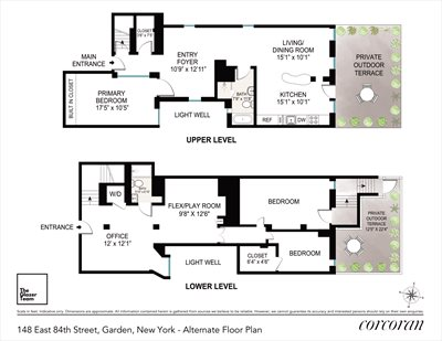 New York City Real Estate | View 148 East 84th Street, #Garden | Floorplan 2