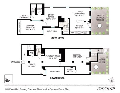 New York City Real Estate | View 148 East 84th Street, #Garden | Floorplan 1
