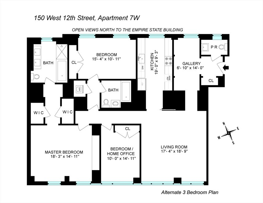 New York City Real Estate | View 150 West 12th Street, #7 W | Floorplan 2