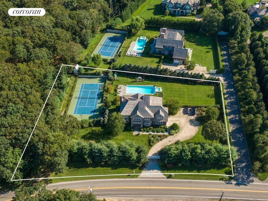 The Hamptons Real Estate | View 1109 Head of Pond Road | Aerial