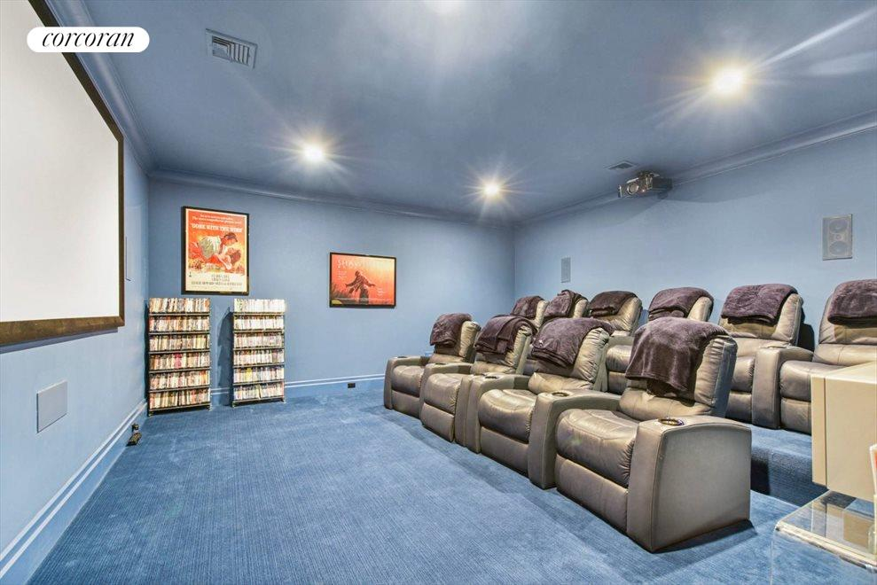 The Hamptons Real Estate | View 1109 Head of Pond Road | Movie Theater