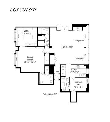 New York City Real Estate | View 200 East 66th Street, #A17-01 | Floor Plan