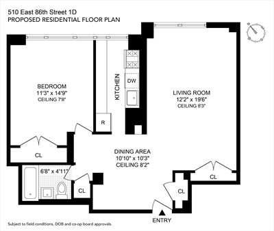New York City Real Estate | View 510 East 86th Street, #1D | Floorplan 2