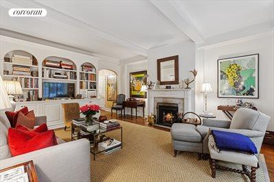 New York City Real Estate | View 125 East 74th Street, #3C | Living Room with Wood-Burning Fireplace