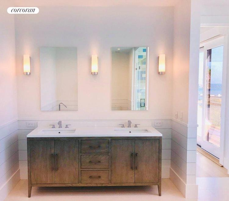 The Hamptons Real Estate | View 23 Fairview Road | master bath double vanity