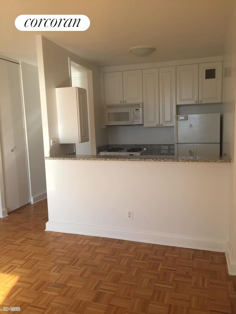 This beautiful 1 bed 1 bath has an open pass-through kitchen great for entertaining. The unit gets tons of sunlight and has incredible South facing views. Spacious king size bedroom with an abundance of closet space. Laundry is conveniently located on the floor! Move date is very flexible.