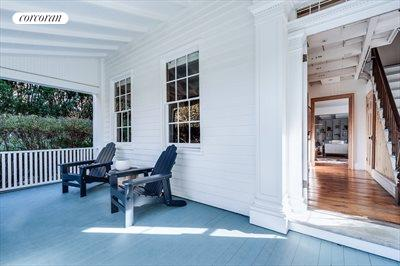 The Hamptons Real Estate | View 384 Main Street | Gracious Porch Entryway
