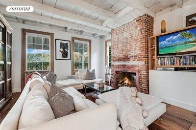 The Hamptons Real Estate | View 384 Main Street | Cozy Living Room