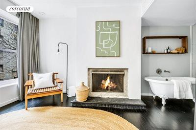 New York City Real Estate | View 111 Saint Felix Street | Master Bedroom w. Second Wood Burning Fireplace
