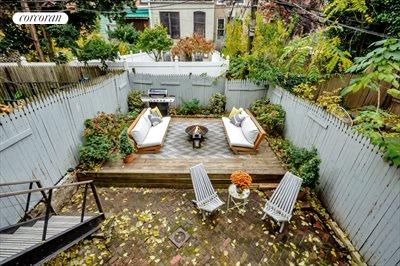 New York City Real Estate | View 111 Saint Felix Street | Parlor Deck Overlooking Your Garden
