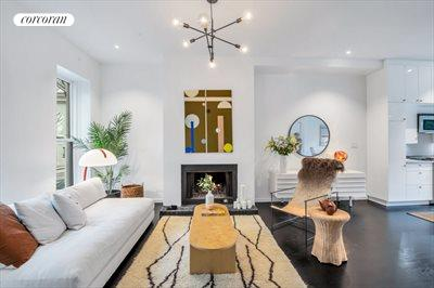 New York City Real Estate | View 111 Saint Felix Street | Sitting Area w. Wood Burning Fireplace