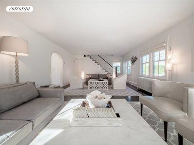 The Hamptons Real Estate | View 151 Halsey Street | Living Room with Firplace