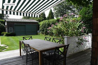 The Hamptons Real Estate | View 151 Halsey Street | Deck with Awning