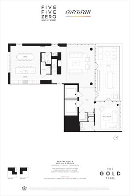 New York City Real Estate | View 550 West 29th Street, #PHB | Floorplan 1