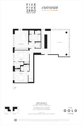 New York City Real Estate | View 550 West 29th Street, #PHB | Floorplan 2