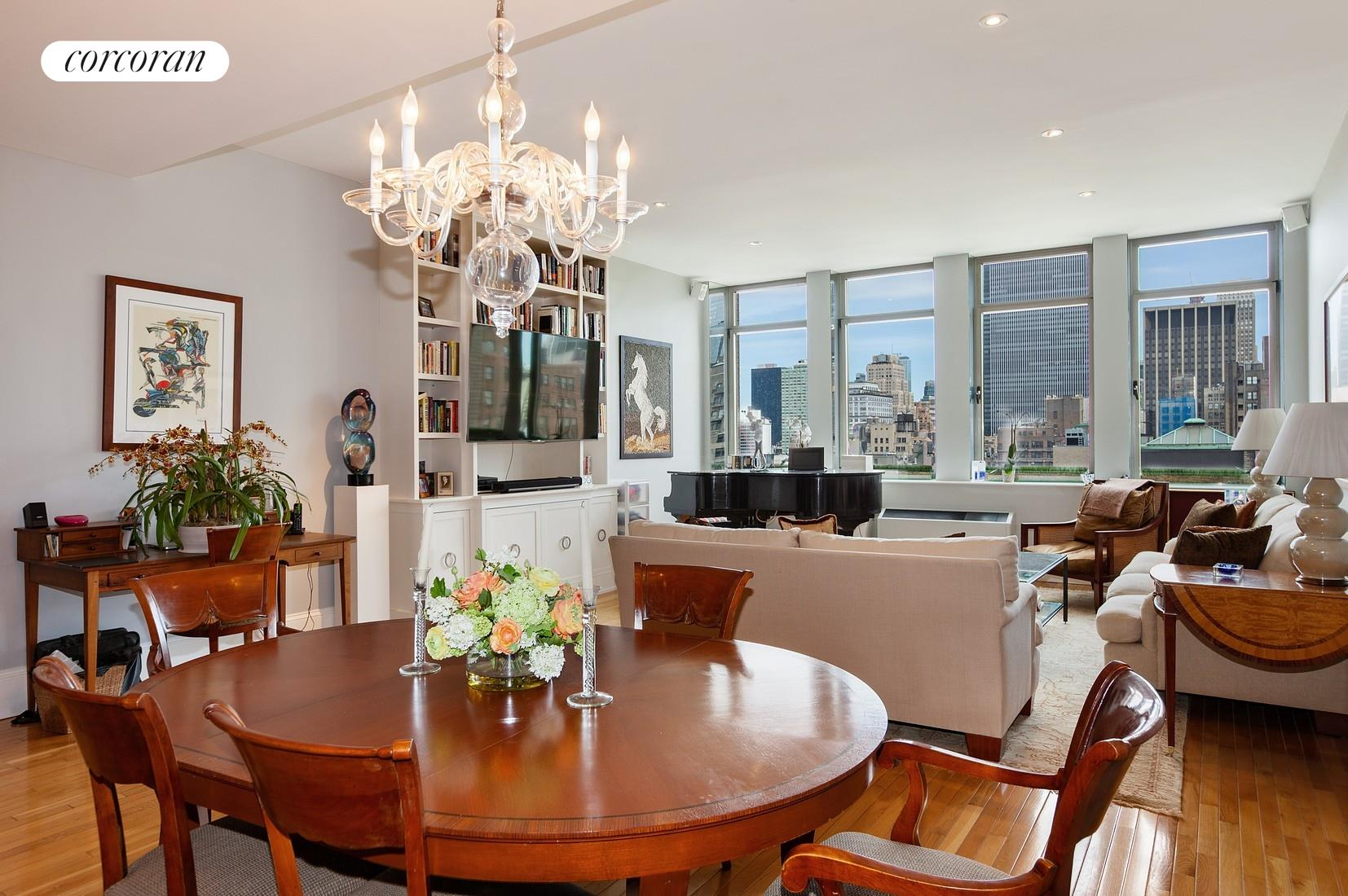 An extraordinary opportunity to lease this FULLY FURNISHED 2 bedroom 2 bath at the famed Chelsea Mercantile for 6-12 months. It features open northern views of the Manhattan skyline, an open kitchen with island, laundry (in apartment), 2 enormous bedrooms and baths. The second bedroom is configured as an office with a murphy bed.The Chelsea Mercantile is a full service building conveniently situated between the Flatiron District and West Chelsea. And, Whole Foods is on-site.