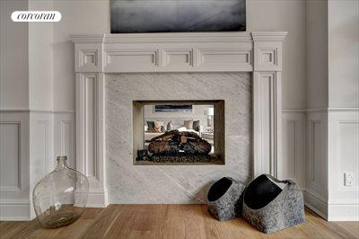 The Hamptons Real Estate | View 12 Water Mill Heights Drive | living room fireplace