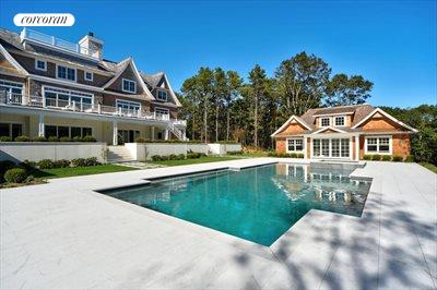 The Hamptons Real Estate | View 12 Water Mill Heights Drive | pool area & pool house