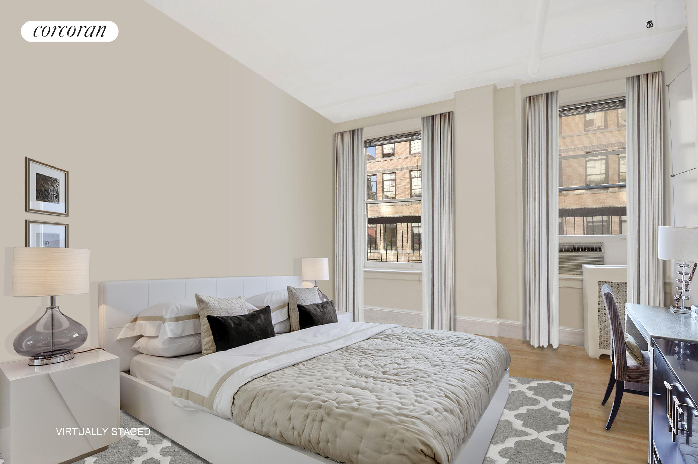 73 Fifth Avenue, 6A, Living Room - Virtually Staged
