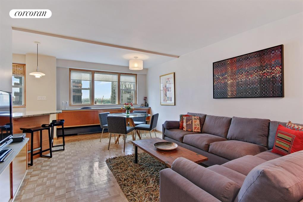 446 East 86th Street, 14C, Spacious North Facing Living Room with River View