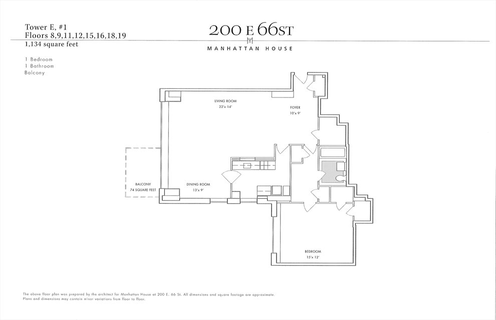 New York City Real Estate | View 200 East 66th Street, #E0901 | Floorplan