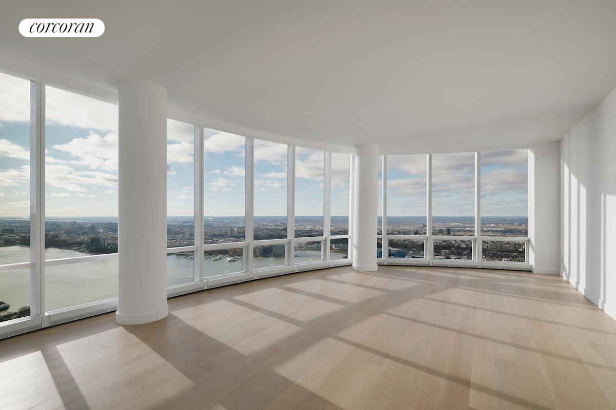 """A DISTINGUISHED ADDRESS.     Penthouse 86B is a stunning four bedroom residence of 3147 square feet with ceilings up to 10'10"""", and spectacular sunset views of the Hudson River. The spacious corner great room measures over 800 square feet and features a windowed open kitchen with custom   Bulthaup oak wood cabinetry and Miele appliances. The master bedroom suite features two large walk-in closets and a luxurious master bath. Bedrooms 2, 3, and 4 offer en-suite baths and generous closet space. A utility room with side-by-side washer dryer, elegant   entry foyer, and a powder room for guests make this a truly extraordinary home.     Fifteen Hudson Yards occupies a prime position on the Public Square and Gardens at the center of Hudson Yards, directly on the High Line and adjacent to The Shed, the new cultural center for artistic invention. Here, residents will take advantage of the unique   lifestyle that Hudson Yards will offer - integrating the finest shopping, dining, arts, culture, fitness and innovation with the highest standards of residential design, services and construction - just moments from West Chelsea's unique combination of art   galleries, museums, restaurants, and schools.    Designed by Diller Scofidio + Renfro in collaboration with Rockwell Group, Fifteen Hudson Yards offers residents over 40,000 square feet of amenities on three floors. Floor 50 has been devoted to the full range of fitness and wellness opportunities, including   an aquatics center with a 75-foot long three-lane swimming pool, a 3,500 square foot fitness center designed by The Wright Fit, private studio for yoga, stretching and group fitness classes, private spa suites with treatment rooms, and a beauty bar for hair   and makeup services. Floor 51 features two corner private dinner suites including wine storage and tasting rooms, lounge with breathtaking Hudson River views, club room with billiards tables, card tables and large-screen TV, a screening room, business center,   golf c"""