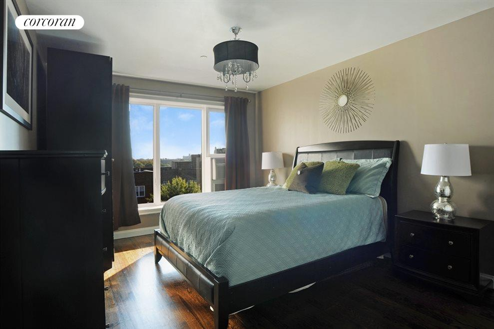 Master Bedroom with over sized windows