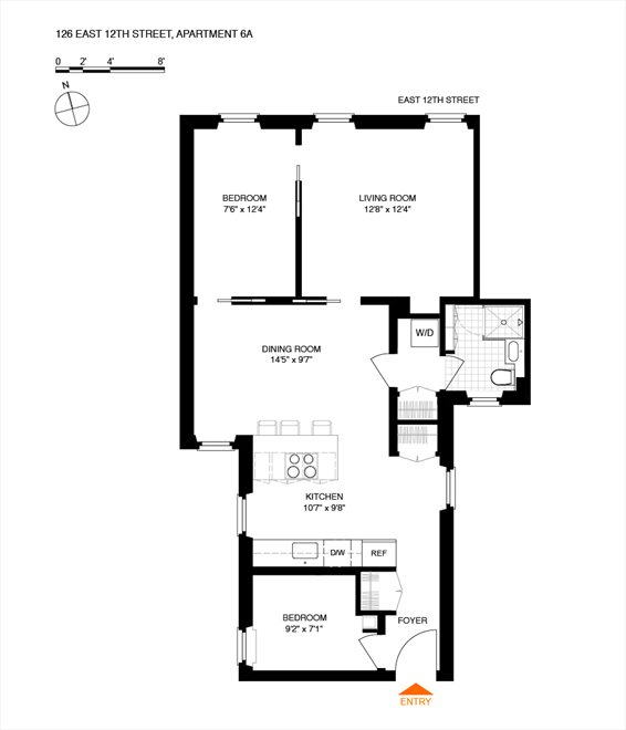 New York City Real Estate | View 126 East 12th Street, #6A | Floorplan