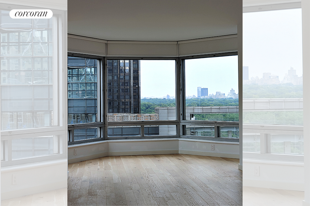 Wake up with stunning views of Central Park and Columbus Circle every day! This gorgeous corner one-bedroom rental is perched on the 14th floor features the park views in the bedroom, living room, and the open kitchen and has north and west floor-to-ceiling windows. The residence at the coveted Central Park Place condominium has a spacious living & dining area, fitted with stainless steel appliances (Verona stove, Sub-Zero refrigerator, and Bosch dishwasher) and Caesar stone dining counter-top, a porcelain tiled bathroom, new floors throughout, loads of closet space and a washer-dryer closet. 301 West 57th Street is at the corner of 8th Avenue, the building offers 24-hour doorman, a swimming pool, health club, two resident lounges, and an outdoor terrace. Right outside your door is Central Park, Columbus Circle, Time Warner Center, and Lincoln Center. Conveniently situated by many subway lines.Condominium application is required with fees. Sorry no pets, this rental is available immediately upon the necessary approval process. Minimum of a 1-year lease.