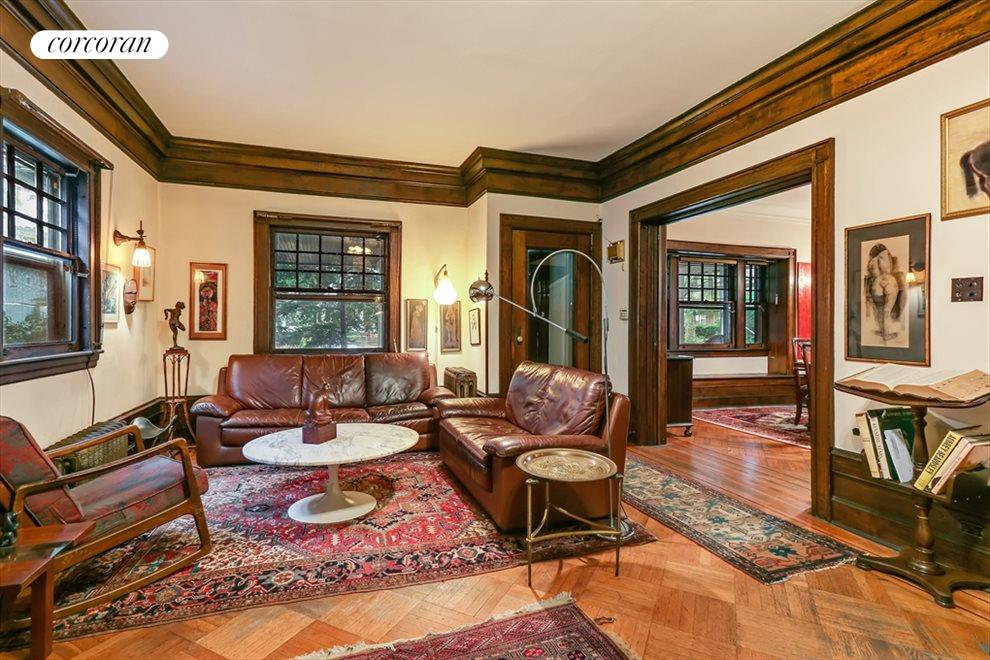 New York City Real Estate | View 633 East 19th Street | Craftsman proportions and woodwork