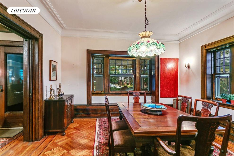 New York City Real Estate | View 633 East 19th Street | Formal dining room w/window seat + two exposures