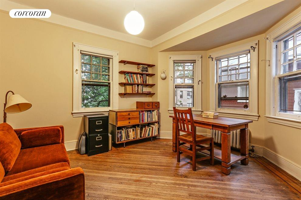 New York City Real Estate | View 633 East 19th Street | Back bedroom/writing room with bay window