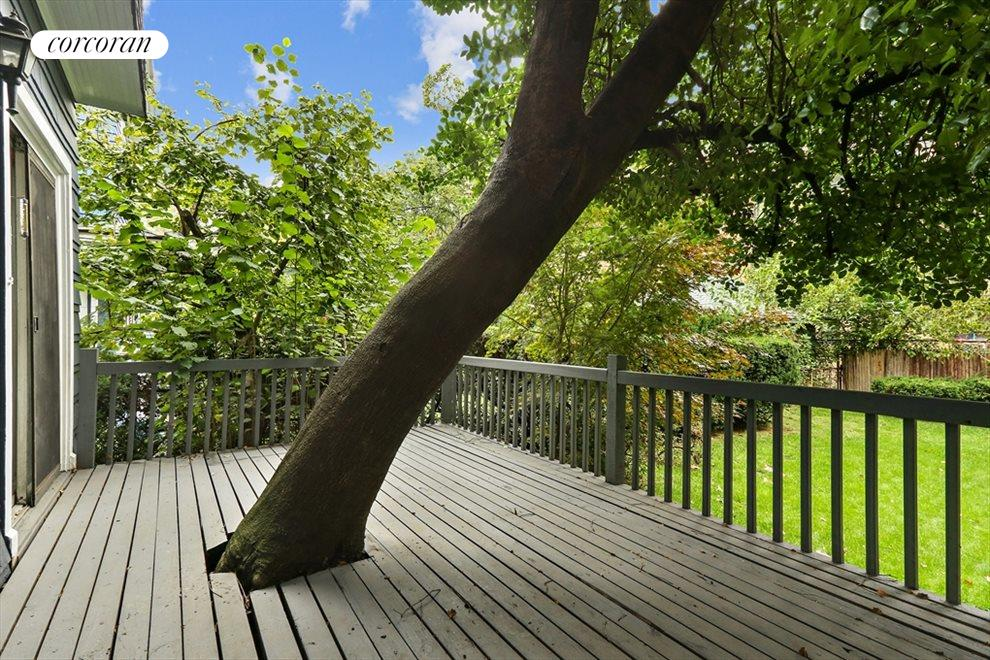 New York City Real Estate | View 633 East 19th Street | Lovely porch with a tree to climb!