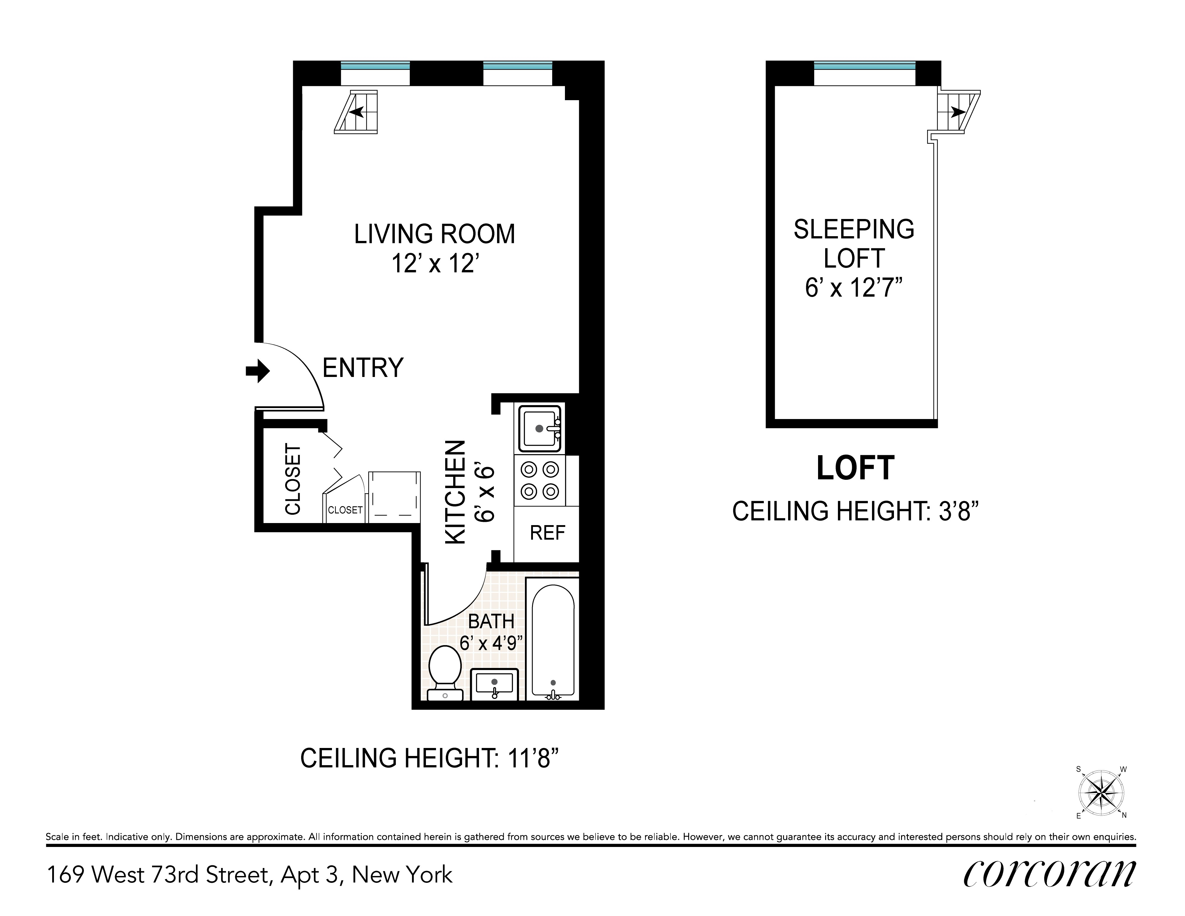 169 West 73rd Street Upper West Side New York NY 10023