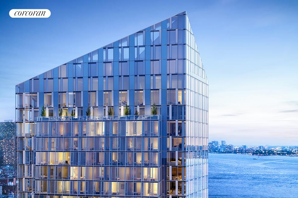 20-YEAR, 421a TAX ABATEMENT. CLOSINGS ARE UNDERWAY.This south-facing three-bedroom, three-bathroom residence at Waterline Square offers floor-to-ceiling windows and views of the Hudson River and New York City Skyline. An open kitchen leading into a sizeable living and dining space flows comfortably, and the primary suite features a walk-in closet and five-fixture bathroom enhanced with radiant heated floors. Italian kitchens by Pedini celebrate the discerning tastes of One Waterline Square's residents. Outfitted with Gaggenau appliances and punctuated by polished chrome Dornbracht fixtures, each kitchen will supply fully-vented range hoods, wine refrigerators and garbage disposals. Residents will also enjoy fully-vented dryers. Private condominium amenities, located on the 15th Floor, include a private 20-seat dining room with catering kitchen, multiple lounge and social spaces, media room, billiards room and bar, great room with fireplace and access to the fully-furnished and landscaped sundeck with outdoor kitchen.One Waterline Square, designed by Pritzker prize-winning architecture firm Richard Meier & Partners Architects, stands at the southernmost portion of Waterline Square, a comprehensive new community joining Midtown with the Upper West Side. A dynamic collection of three distinct towers designed by the world's most accomplished architects, Waterline Square surrounds a curated new park, bringing lush landscapes through the towers and connecting them to the city. One Waterline Square's striking glass facade commands a full city block between Fifty-Ninth and Sixtieth Streets at Riverside Boulevard, and invites dramatic sunsets over the Hudson River and views of the skyline into the homes. With interiors and a luxurious suite of private amenities by Champalimaud, the fifty-six elegantly proportioned one to five bedroom residences marry the precision of the exterior with great warmth and act as a canvas to showcase high ceilings, enormous windows, and a rich se