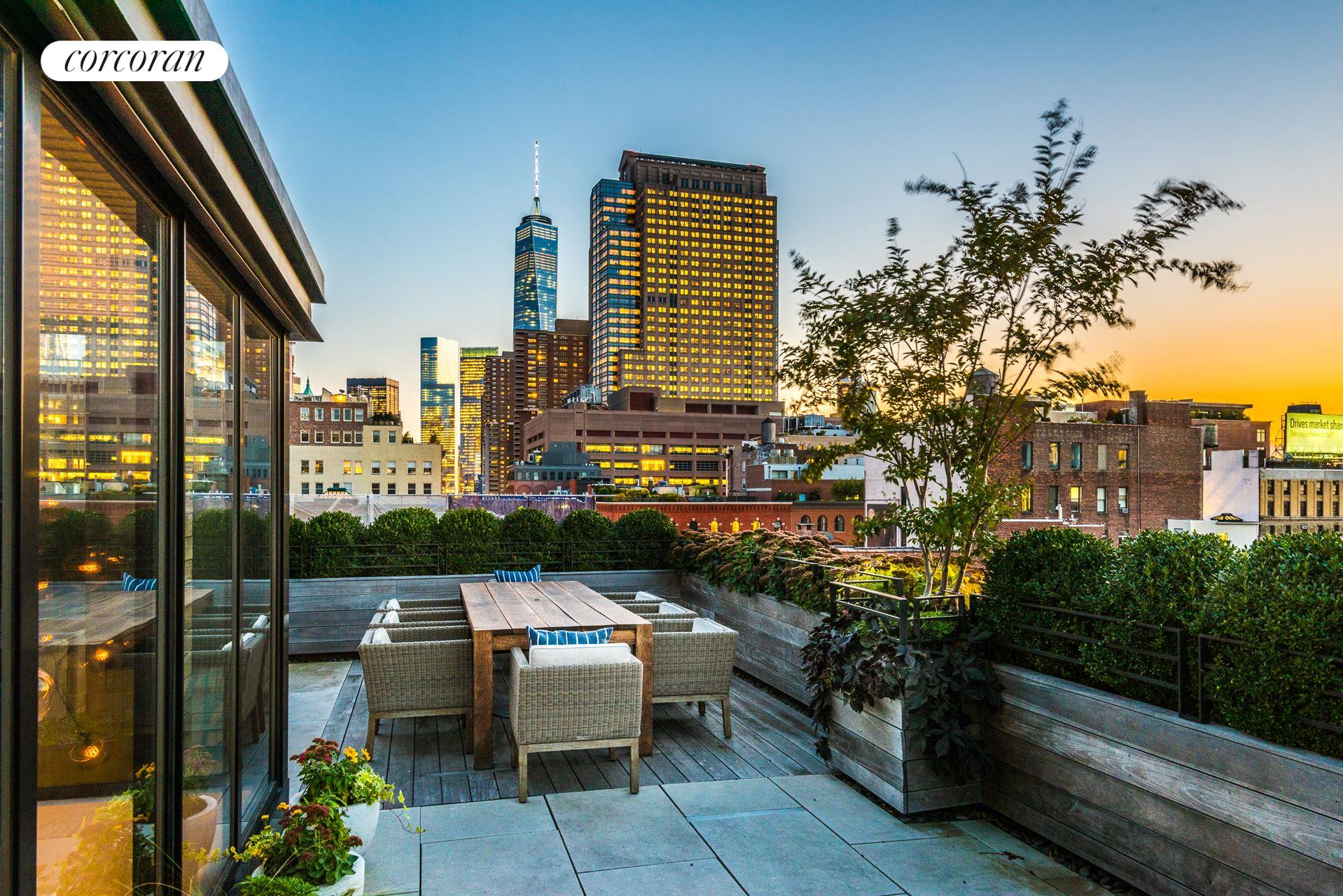 Corcoran 463 greenwich street apt ph tribeca real for Tribeca homes for sale