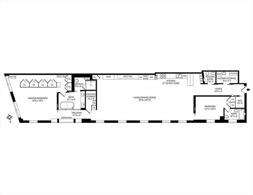 New York City Real Estate | View East 13th Street #4E | Floorplan 5