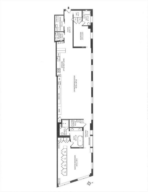 New York City Real Estate | View East 13th Street #4E | Floorplan 8