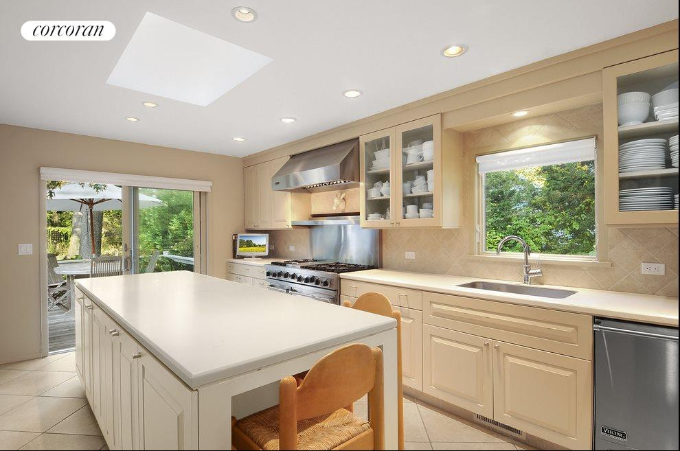Renovated kitchen with professional appliances