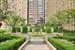 353 West 56th Street, 10B, Lushly planted central courtyard