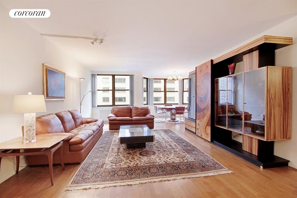 176 East 71st Street, 12E, Gracious Living Room with Eastern Exposure