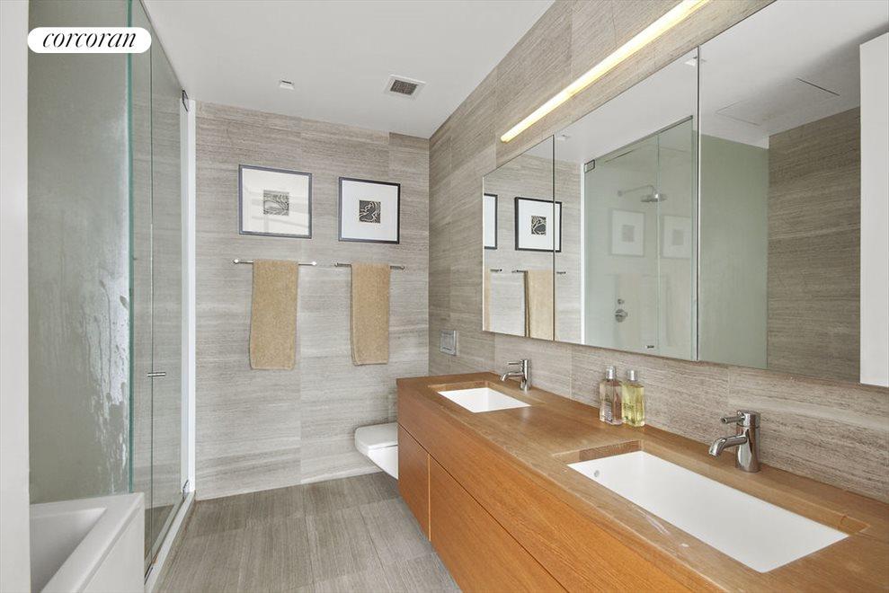 Five piece master bathroom